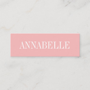 Pink business cards zazzle pink minimalist trendy modern business card reheart Images