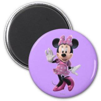 Pink Minnie | Cute Pose 2 Inch Round Magnet