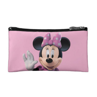 Pink Minnie   Cute Pose Cosmetic Bag at Zazzle