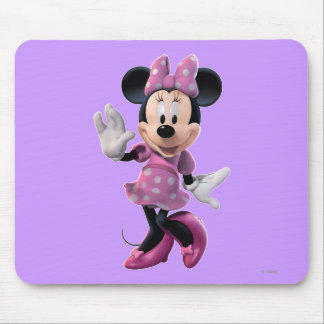Pink Minnie | Cute Pose Mouse Pad
