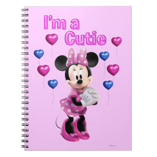 Pink Minnie | Cutie with Hearts Notebook