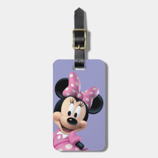 Pink Minnie | Hands Behind Back Luggage Tag