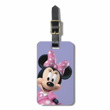 Disney Themed Pink Minnie | Hands Behind Back Luggage Tag