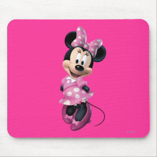 Pink Minnie | Hands Behind Back Mouse Pad