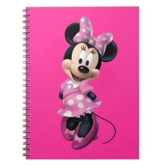 Pink Minnie | Hands Behind Back Spiral Notebook