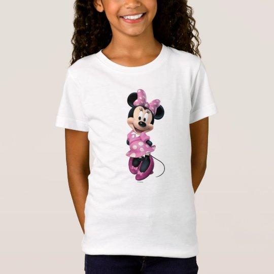 Pink Minnie   Hands Behind Back T-Shirt
