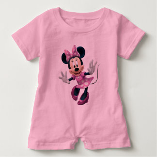 Pink Minnie   Hands Out Baby Romper