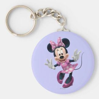 Pink Minnie | Hands Out Keychain
