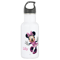 Pink Minnie | Hands Out Stainless Steel Water Bottle