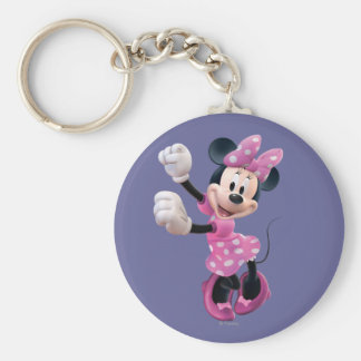 Pink Minnie   Hands Up and Dancing Keychain