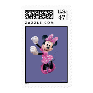 Pink Minnie   Hands Up and Dancing Postage