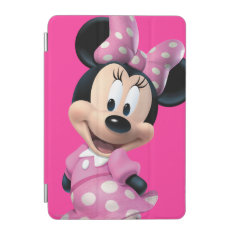 Pink Minnie | Head Outline In Background Ipad Mini Cover at Zazzle