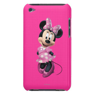 Pink Minnie   Head Outline in Background iPod Case-Mate Case