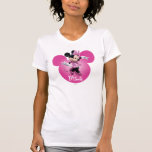 Pink Minnie   Head Outline in Background Tee Shirt