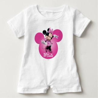 Pink Minnie | Mickey Head Icon Baby Romper