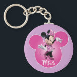 "Pink Minnie | Mickey Head Icon Keychain<br><div class=""desc"">Minnie Mouse</div>"