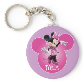 Pink Minnie | Mickey Head Icon Keychain
