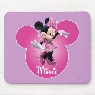 Pink Minnie | Mickey Head Icon Mouse Pad