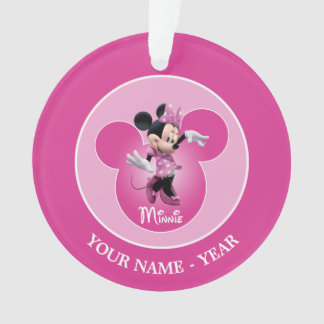 Pink Minnie | Mickey Head Icon Ornament
