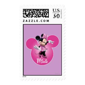 Pink Minnie | Mickey Head Icon Postage