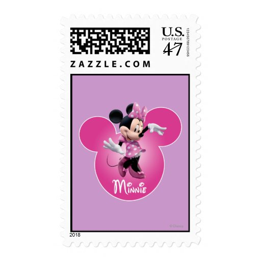 Pink Minnie | Mickey Head Icon Postage Stamp