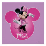 Pink Minnie | Mickey Head Icon Poster