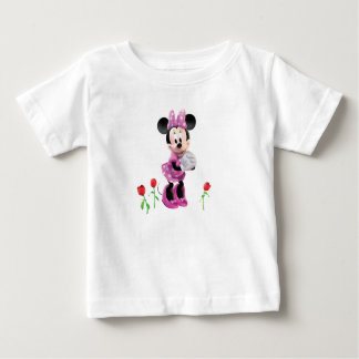 Pink Minnie   Tulips Baby T-Shirt