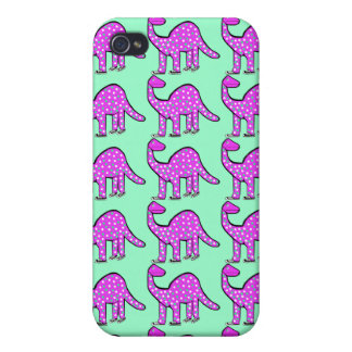 Pink & Mint Green Dinosaur iPhone Case Gift