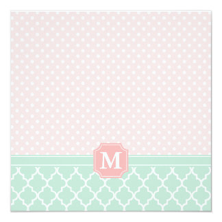 Pink Mint Polka Dots Moroccan Gift Certificate Card