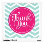 Pink Mint Teal Thank You Chevrons Wall Decor