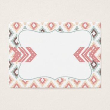 Aztec Themed Pink Mint Tribal Aztec Business Card