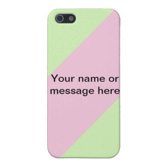 pink mint your own name & choose background cover for iPhone SE/5/5s