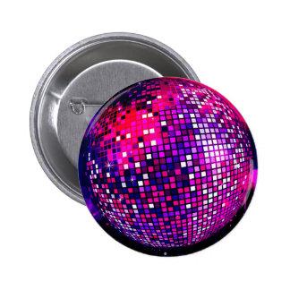 Pink Mirror Ball Pinback Button
