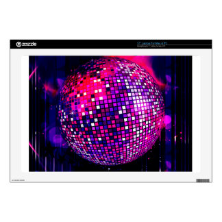 "Pink Mirror Ball Skin For 17"" Laptop"
