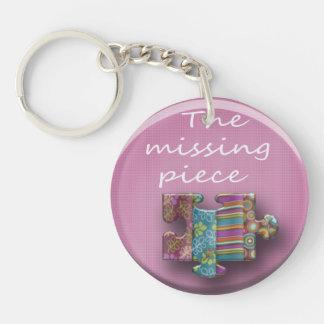 Pink missing part keychain