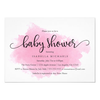 Pink Mist | Baby Shower Invitation