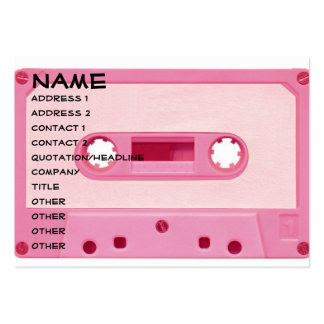 Pink Mix Tape Large Business Cards (Pack Of 100)
