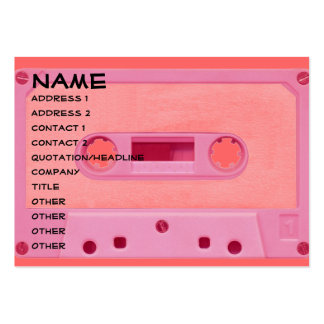 Pink Mix Tape Large Business Card