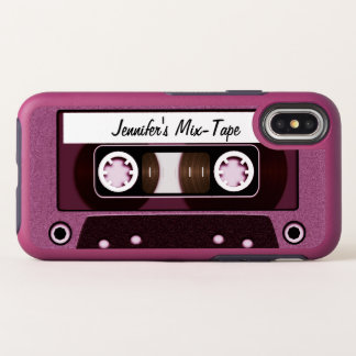 Pink Mix Tape OtterBox Symmetry iPhone X Case