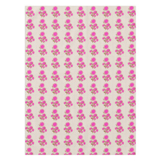 Pink Mixed Media Flower Table Cloth Tablecloth