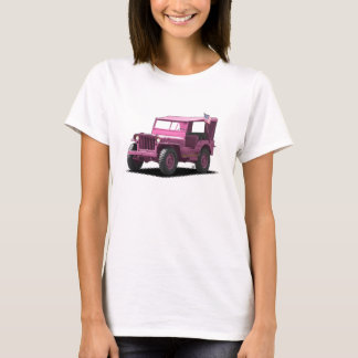 Pink MJ Military Vehicle T-Shirt
