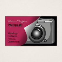 pink Mod Photoraphy, camera Business Card