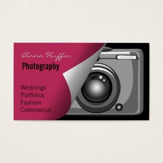 pink Mod Photoraphy, camera Business Card