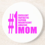 Pink Modern #1 Aunts : Number One Aunt Drink Coaster