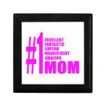 Pink Modern #1 Aunts : Number One Aunt Trinket Boxes