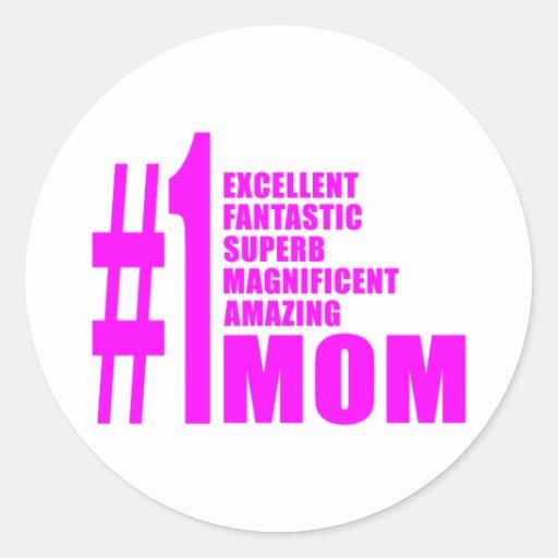 Pink Modern #1 Aunts : Number One Aunt Sticker
