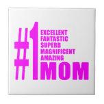 Pink Modern #1 Aunts : Number One Aunt Ceramic Tile