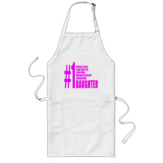 Pink Modern #1 Daughters : Number One Daughter Long Apron