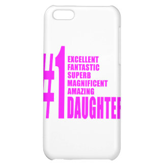 Pink Modern #1 Daughters : Number One Daughter Case For iPhone 5C
