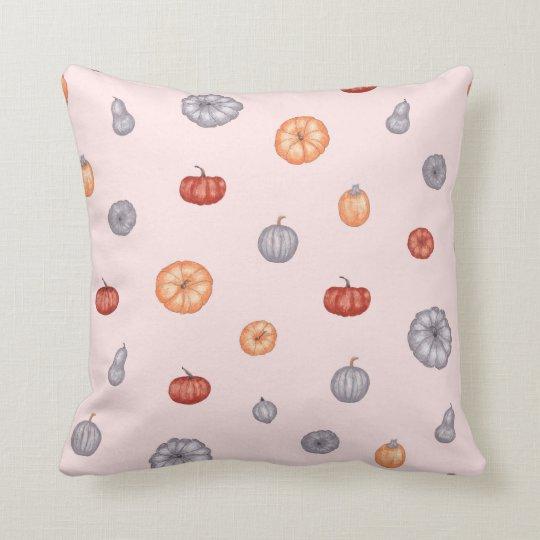 Pink Modern Autumn Pumpkin Throw Nursery Pillows